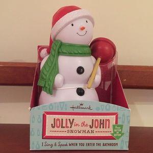 Hallmark Jolly in the John Talking Snowman NIB